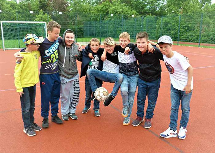 Fußballmannschaft der offenen Ganztagsschule