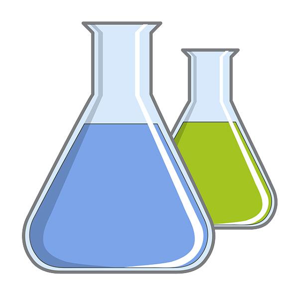 Chemie Reagenzglas mit Flüssigkeit